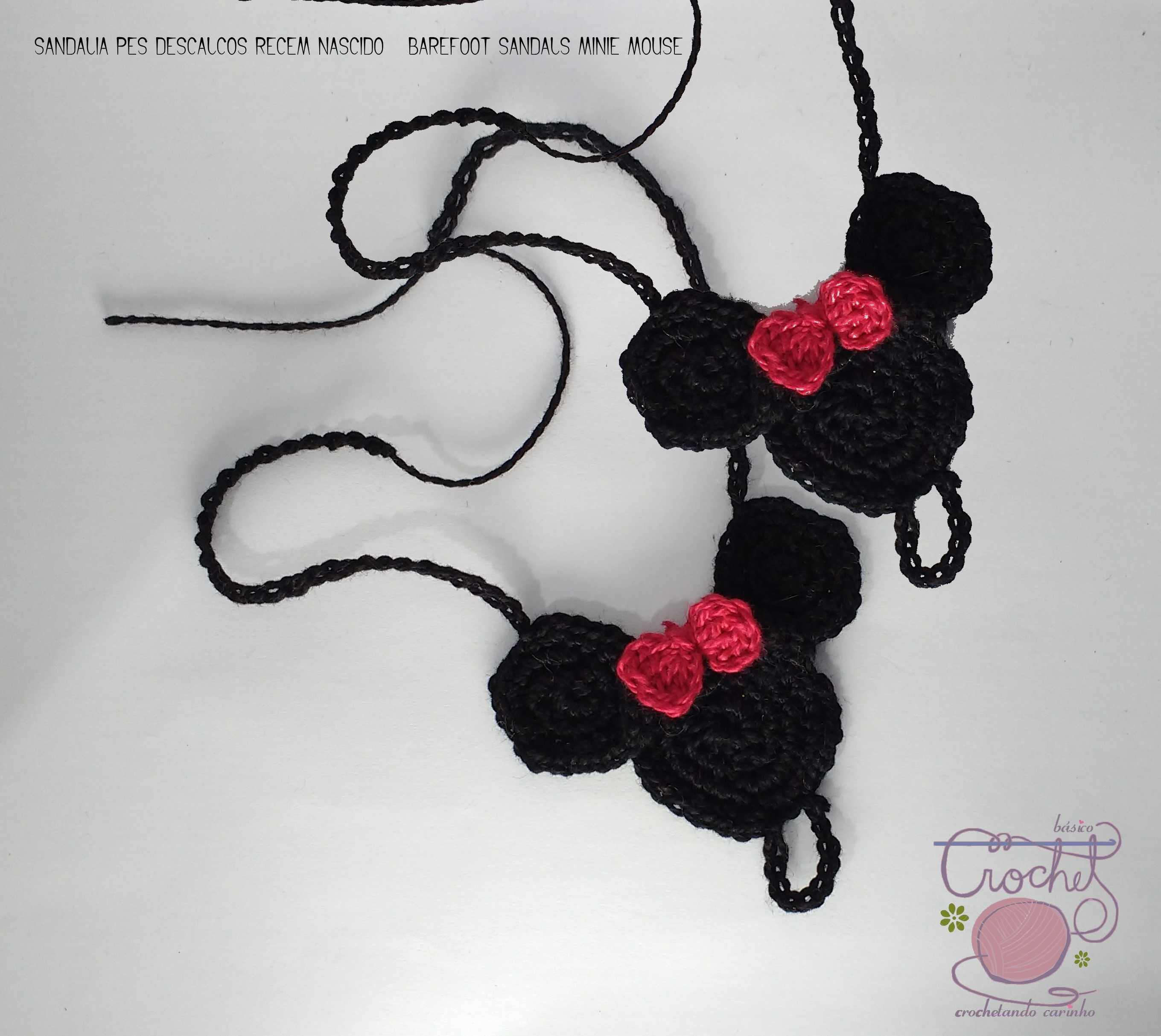 barefoot sandals minie mouse crochet